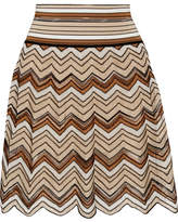 Missoni Crochet-knit Mini Skirt - Brown