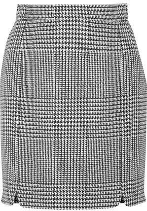 Pierre Balmain Houndstooth Tweed Mini Skirt