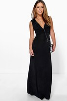 Boohoo Petite Donna Plunge Ruched Maxi Dress