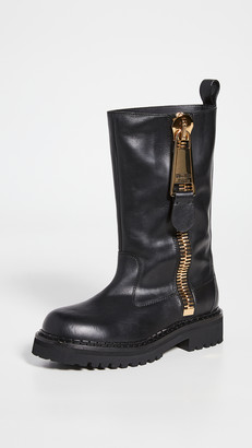 Moschino W. Ankle Zipper Boots