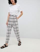 Asos Design DESIGN large check tapered pants