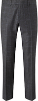 John Lewis Check Super 100s Wool Tailored Fit Suit Trousers, Grey