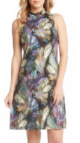 Karen Kane Women's Palm Print A-Line Dress