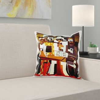 N. Ebern Designs Albanese Picasso Painting Musicians Masks Pillow Cover Ebern Designs