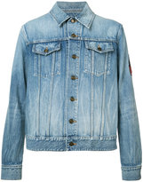 Saint Laurent patch detail denim jacket - men - Cotton - XL