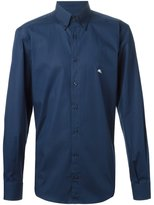 Etro embroidered logo shirt - men - Cotton/Spandex/Elastane - 43