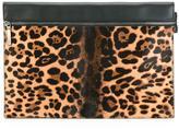 Victoria Beckham leopard pattern clutch