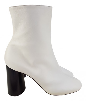 Celine White Leather Boots