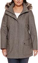 A.N.A a.n.a Fur Trim Casual Zip Wool Coat - Plus
