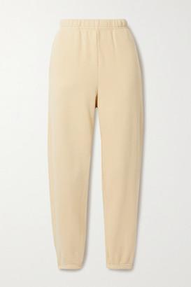 LES TIEN Cotton-jersey Track Pants