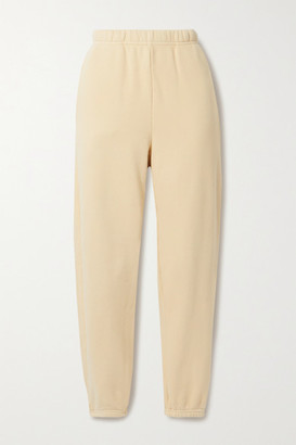 LES TIEN Cotton-jersey Track Pants - Beige