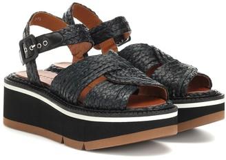 Clergerie Aqua raffia platform sandals