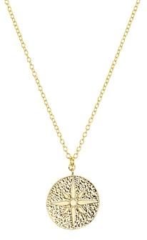 Argentovivo North Star Medallion Pendant Necklace, 16