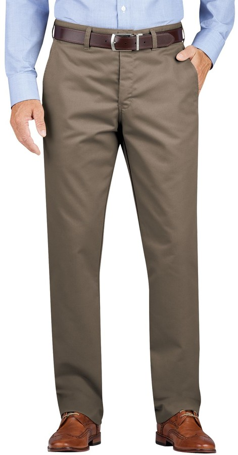 Dickies Men's Regular-Fit Wrinkle-Resistant Khaki Dress Pants