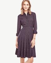 Ann Taylor Petite Swing Pleat Dress