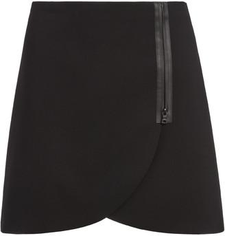 Alice + Olivia Lennon Side Zip Mini Skirt