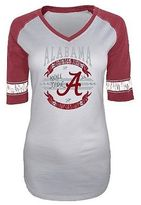 NCAA Alabama Crimson Tide Women Burnout 3/4 Sleeve T-Shirt
