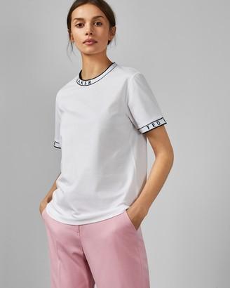 Ted Baker RENYAZ Branded ribbed T-shirt