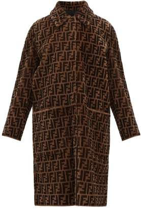 Fendi Reversible Ff Shearling And Leather Coat - Womens - Brown Multi