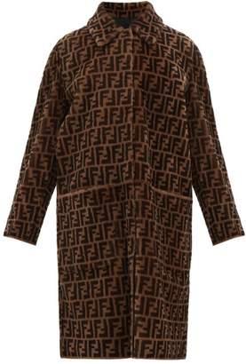 Fendi Reversible Ff Shearling And Leather Coat - Womens - Brown Multi