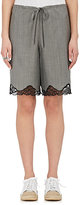 Alexander Wang Women's Wool-Mohair Lace-Trimmed Shorts