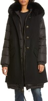 Mr & Mrs Italy 2-in-1 Down Puffer Coat with Genuine Fox Fur Trim