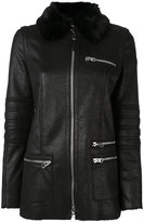 Armani Jeans fur collar coat