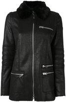 Armani Jeans fur collar coat
