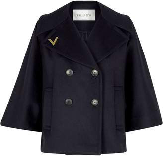Valentino Double-Breasted Wool-Cashmere Coat