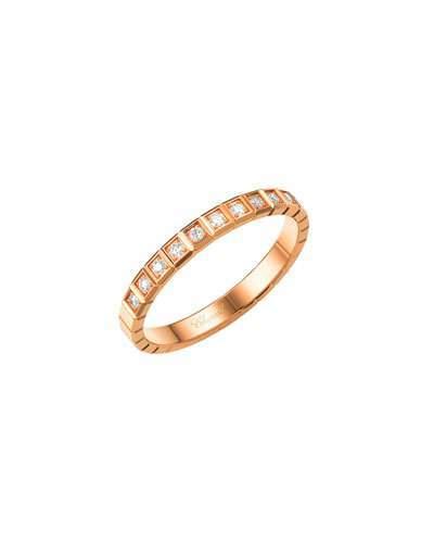 Chopard Ice Cube Mini Diamond Ring in 18K Rose Gold, Size 54