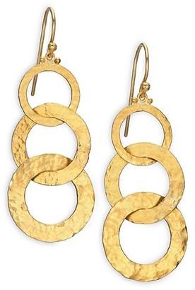 Gurhan Hoopla 24K Yellow Gold Infinity Triple-Drop Earrings