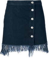 3x1 frayed denim skirt - women - Cotton - XS