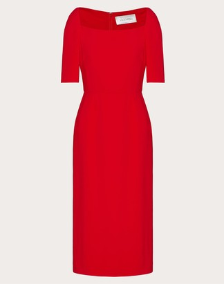 Valentino Cady Evolution Sheath Dress Women Red Viscose 43%, Acetate 57% 36