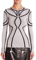 Proenza Schouler Silk-Blend Patterned Top