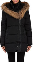 Barneys New York WOMEN'S FUR-TRIMMED QUILTED PARKA-BLACK SIZE XS