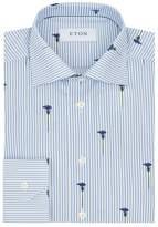 Eton Striped Floral Shirt
