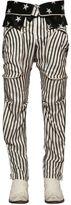 Faith Connexion Stripe & Stars Printed Silk Satin Pants
