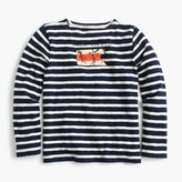 J.Crew Boys' long-sleeved pirate striped T-shirt in heavy weight slub
