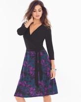 Soma Intimates Leota Wrap Front Short Dress Black/Raven Floral
