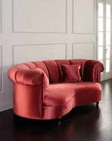"Haute House Aubrey Channel Tufted Sofa, 77"""