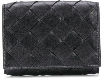 Bottega Veneta Woven Leather Flap Wallet