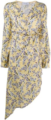 ART DEALER Floral Print Silk Dress
