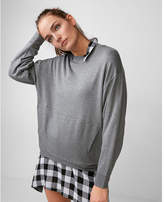 Express one eleven oversized crew neck sweatshirt
