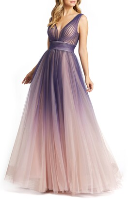 Mac Duggal Ombre Tulle Ballgown