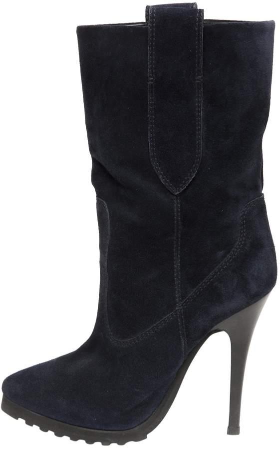 Giuseppe Zanotti Blue Suede Boots