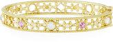 Penny Preville 18k Diamond, Pink Sapphire & Moonstone Bangle Bracelet