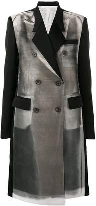 Peter Do abstract print tailored coat