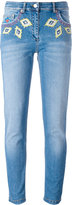 Moschino diamond embroidery skinny jeans - women - Cotton/other fibers - 38