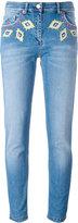 Moschino diamond embroidery skinny jeans