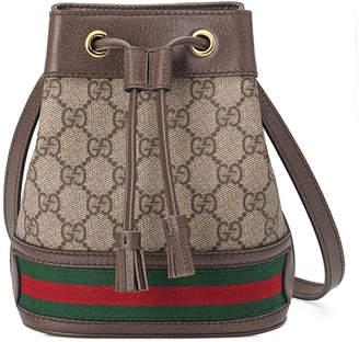 Gucci Ophidia Mini GG Supreme Canvas Bucket Bag